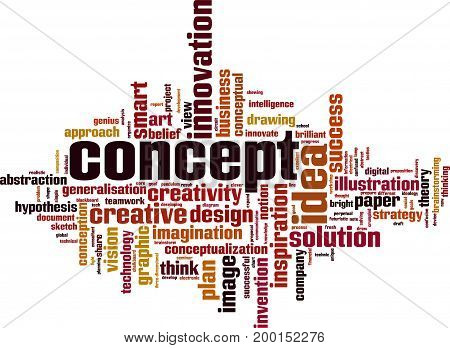 Concept word cloud concept. Vector illustration on white