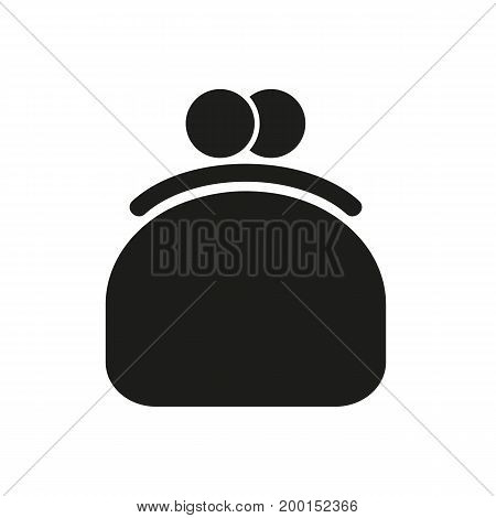 Simple icon of pouch. Purse, money, change. Basket concept. Can be used for topics like finance, banking, shopping
