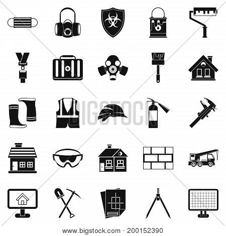 Concern icons set. Simple set of 25 concern vector icons for web isolated on white background