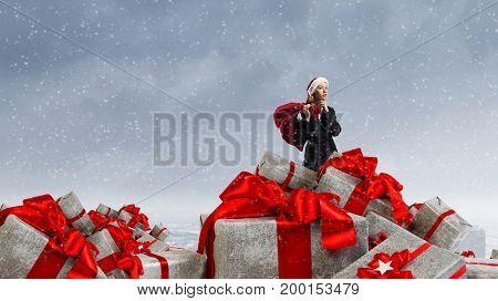 Are you ready for Christmas . Mixed media . Mixed media