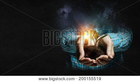 Birth of new life. Mixed media . Mixed media