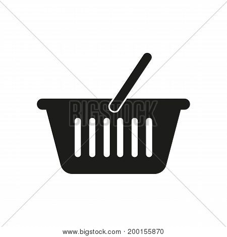 Simple icon of shopping basket. Market, supermarket, consumer basket. Basket concept. Can be used for topics like shopping, consumerism, retail
