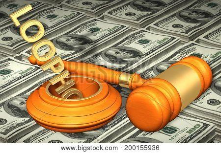Legal Loophole Concept 3D Illustration