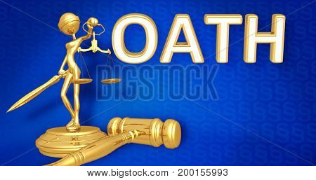 Oath Law Concept Lady Justice The Original 3D Character Illustration