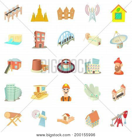 Subject icons set. Cartoon set of 25 subject vector icons for web isolated on white background
