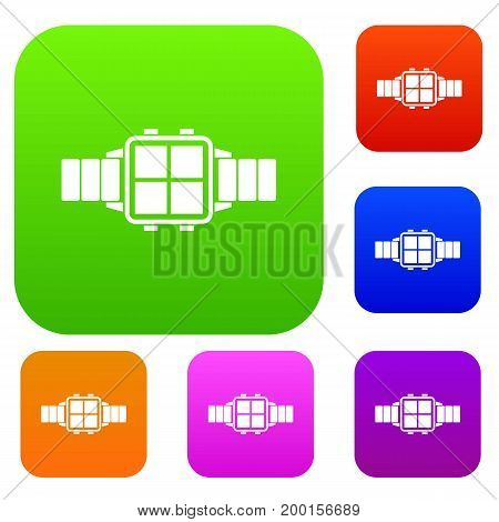 Modern smart watch set icon in different colors isolated vector illustration. Premium collection