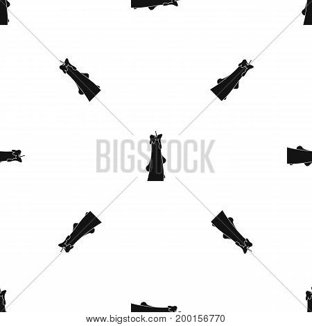 Dropped candle pattern repeat seamless in black color for any design. Vector geometric illustration