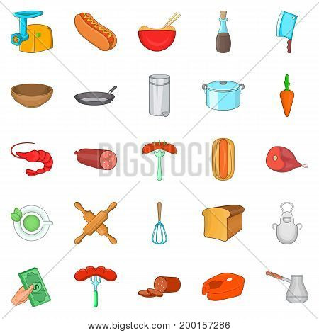 Beverage icons set. Cartoon set of 25 beverage vector icons for web isolated on white background