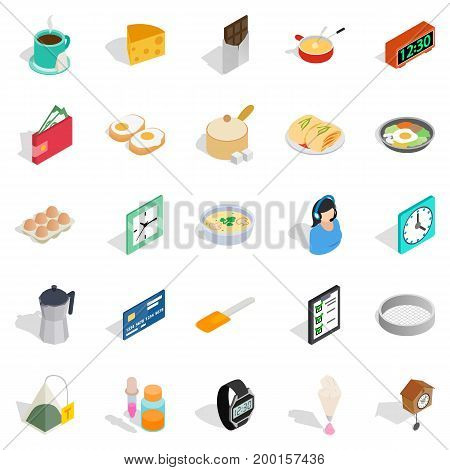 Brew icons set. Isometric set of 25 brew vector icons for web isolated on white background