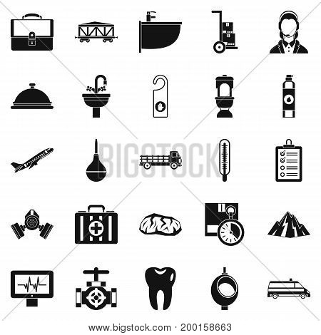 Making things icons set. Simple set of 25 making things vector icons for web isolated on white background
