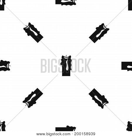 Decorative candle pattern repeat seamless in black color for any design. Vector geometric illustration