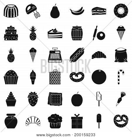 Sweet chocolate icons set. Simple style of 36 sweet chocolate vector icons for web isolated on white background