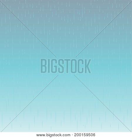 Rain. Rainy sky pattern. Raindrops texture backdrop. Dynamic lines rainy sky background. Fall rain. Rainy day, wet, vector illustration.
