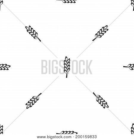 One spike pattern repeat seamless in black color for any design. Vector geometric illustration