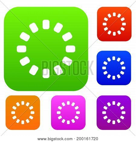 Sign download online set icon in different colors isolated vector illustration. Premium collection