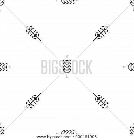 Inlet spike pattern repeat seamless in black color for any design. Vector geometric illustration