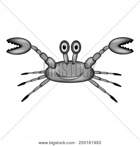 Crab sign icon on white background. Vector illustration.