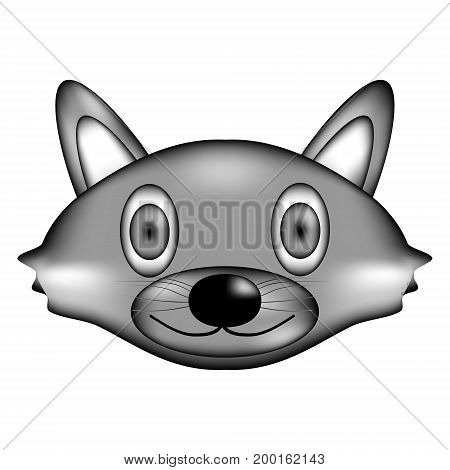 Raccoon face sign icon on white background. Vector illustration.