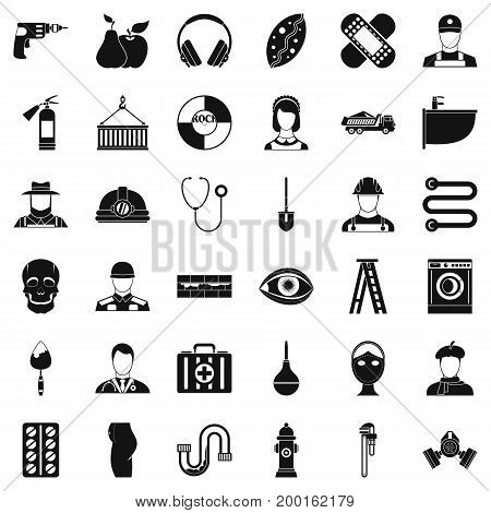 Good job icons set. Simple style of 36 good job vector icons for web isolated on white background