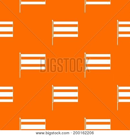 Flag pattern repeat seamless in orange color for any design. Vector geometric illustration