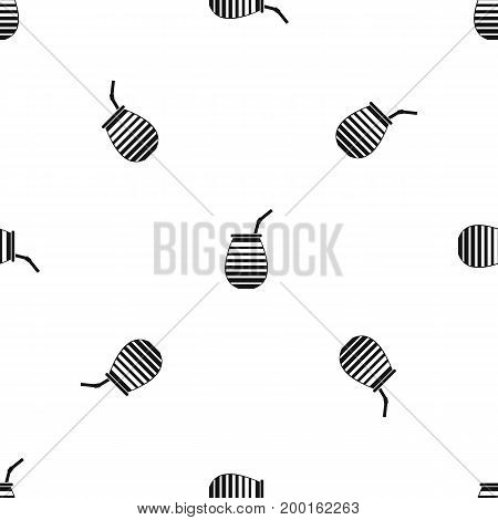 Tea cup used mate or terere in Argentina pattern repeat seamless in black color for any design. Vector geometric illustration