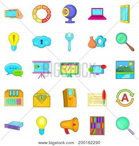 Business insight icons set. Cartoon set of 25 business insight vector icons for web isolated on white background
