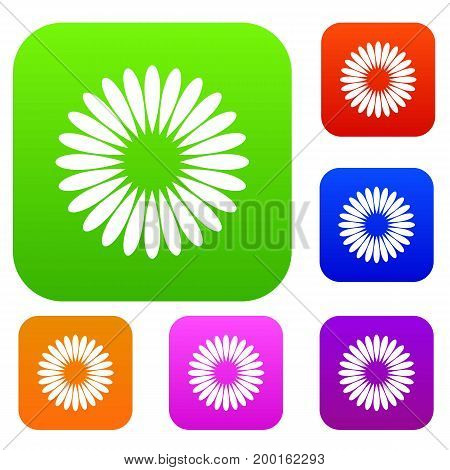 Waiting download set icon in different colors isolated vector illustration. Premium collection