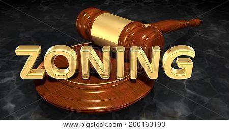 Zoning Law Concept 3D Illustration