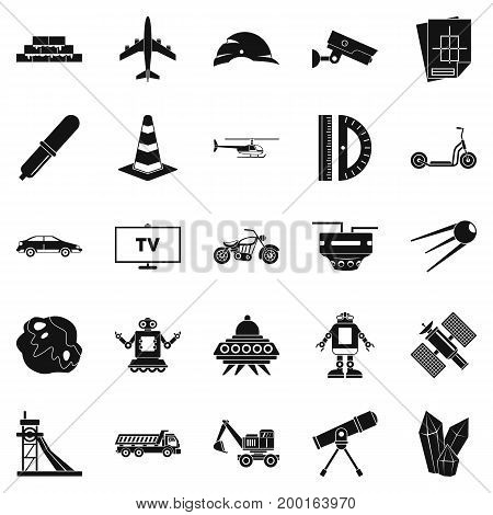 TV software icons set. Simple set of 25 tv software vector icons for web isolated on white background