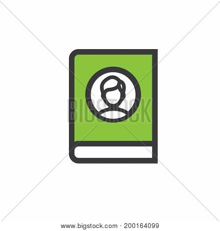 Ancestry or Genealogy Icon Set with Family Tree Album family record etc