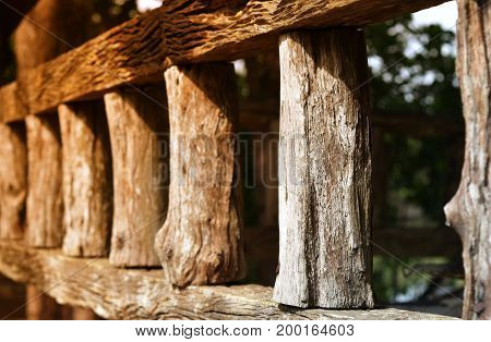 old wood fence and sunlight for background