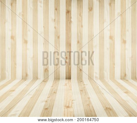 Soft brown wooden tabletop use for products display