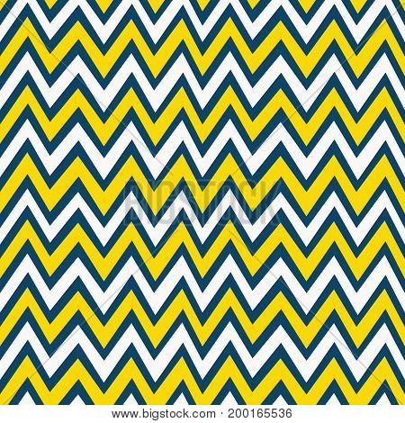 Trendy yellow white and navy blue chevron background pattern design element