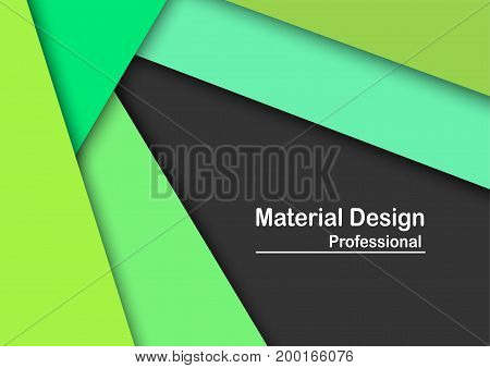 Abstract Modern Material Design Background In Green Tone.