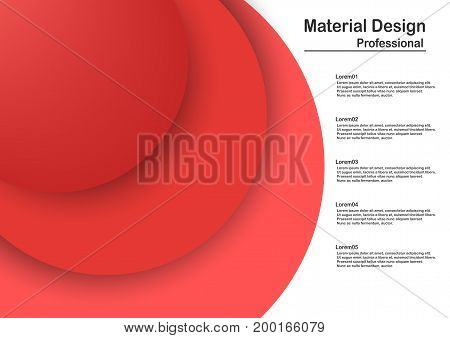 Abstract Modern Material Design In Red Tone.