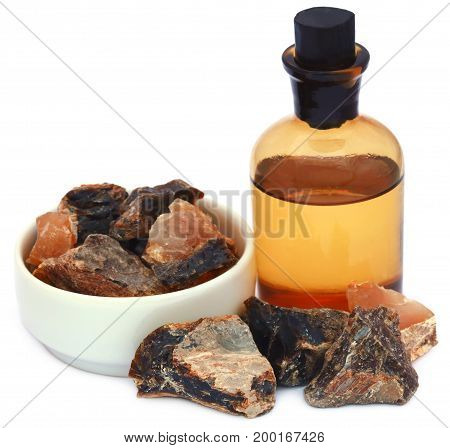 Frankincense dhoop with essential oil a natural aromatic resin used in perfumes and incenses