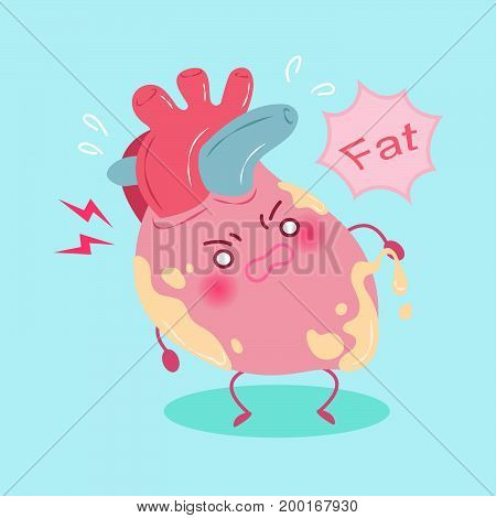 heart with health concept on the green background