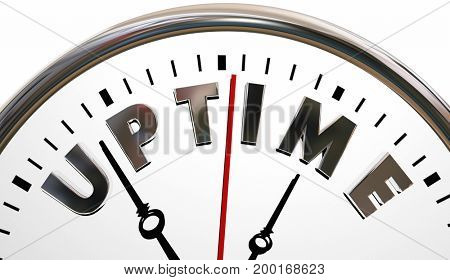 Uptime Clock Working Maximize Potential Performance 3d Illustration