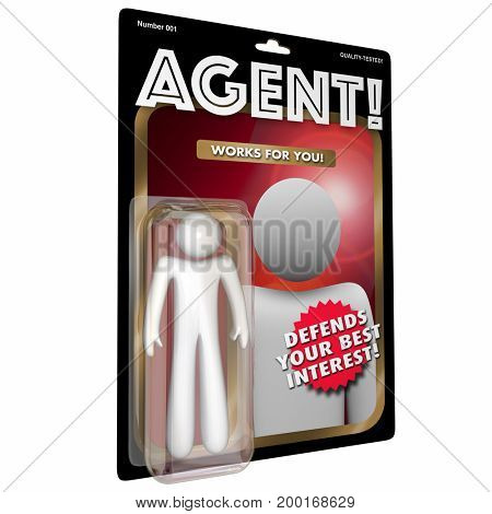 Agent Action Figure Representative 3d Illustration