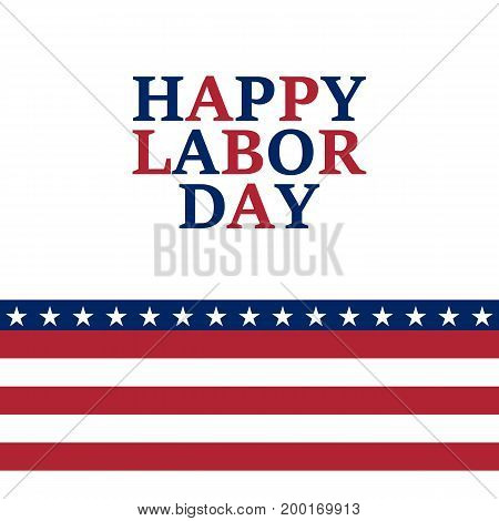 Labor Day holiday in the United State vector