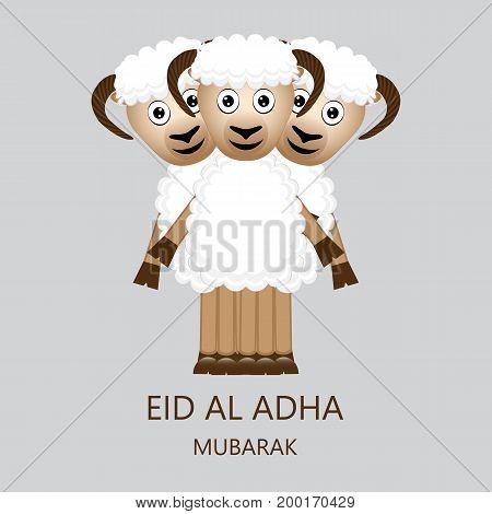 Eid al Adha Mubarak Cardb vector illustration
