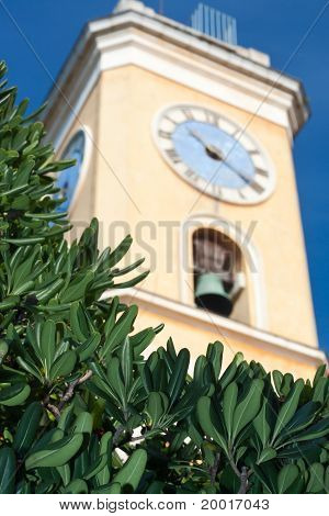 Church Tower In Eze