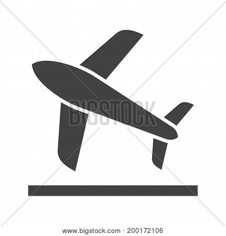 Plane, takeoff, flight icon vector image. Can also be used for airport. Suitable for mobile apps, web apps and print media.