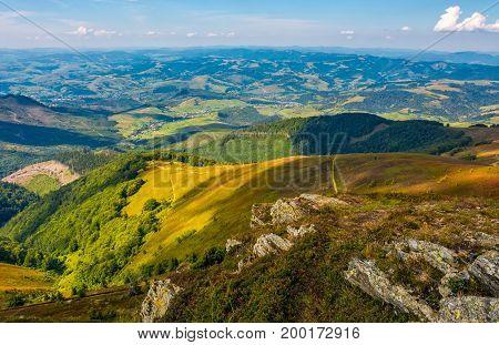 Rocks On Hillside Of High Mountain