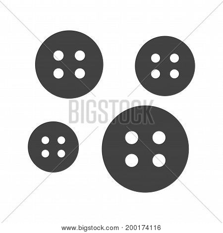 Buttons, sewing, clothing icon vector image. Can also be used for Sewing. Suitable for mobile apps, web apps and print media.