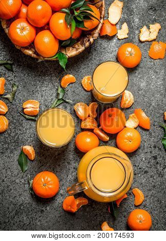 Freshly Squeezed Juice Of Ripe Tangerines.