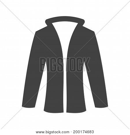 Jacket, leather, style icon vector image. Can also be used for Mens Accessories. Suitable for mobile apps, web apps and print media.