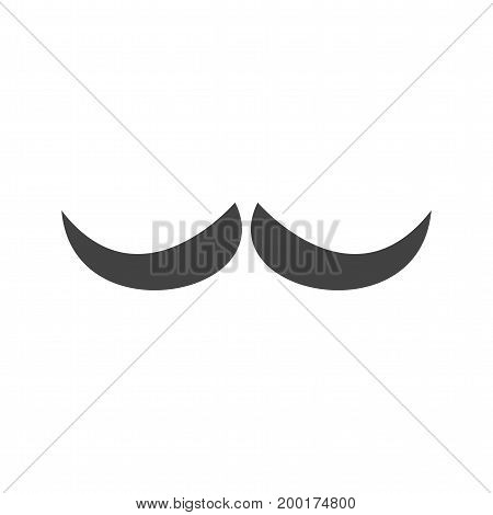 Face, moustache, man icon vector image. Can also be used for Mens Accessories. Suitable for use on web apps, mobile apps and print media.