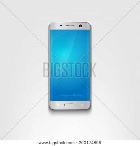 Smartphone, mobile phone isolated with blank screen