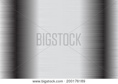 Metal brushed background. Stainless steel scratched surface. Vector 3d illustration